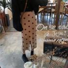 Polka Dot Knit Skirt