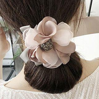 Faux Pearl Rhinestone Floral Hair Styling Tool