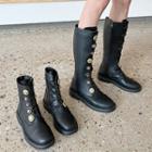 Buckled Platform Tall Boots