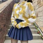 Floral Shirt / Pleated Skirt