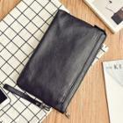 Plain Faux Leather Clutch