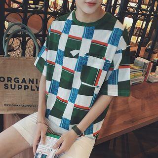 Plaid Short-sleeve T-shirt