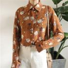 Poker Print Chiffon Shirt