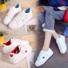 Star Heart Canvas Sneakers