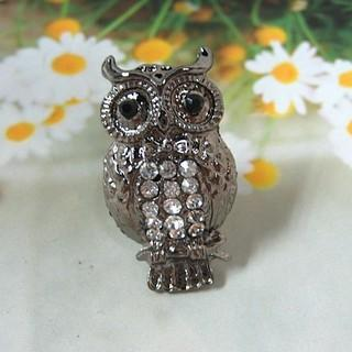 Owl Ring Silver - One Size