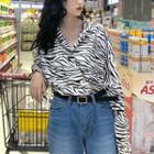 Zebra Blouse As Shown In Figure - One Size