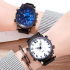 Number Print Silicone Strap Watch