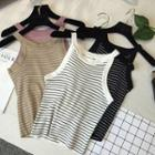 Striped Knit Halter Top