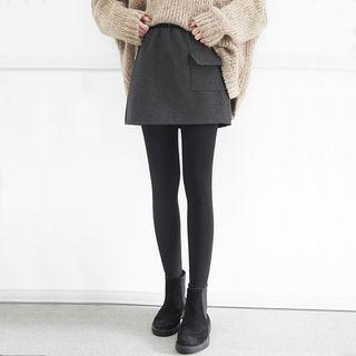 Inset-leggings Wool Skirt