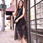 Sleeveless Pleated Maxi Dress