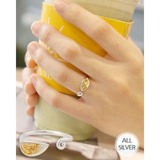 Flower-shape Open Silver Ring