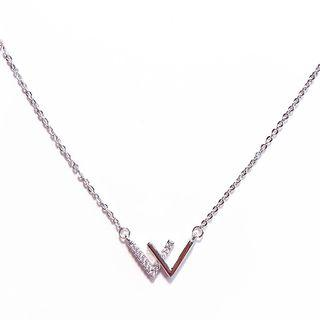 Letter Necklace Silver - One Size