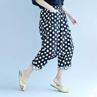 Dotted Baggy Pants