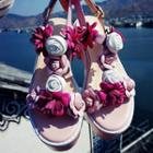 Platform Flower Sandals