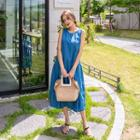 Denim Long Pinafore Dress