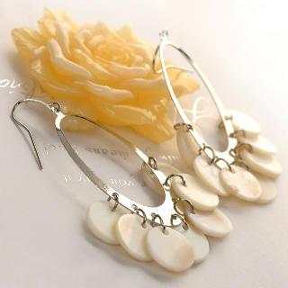 Shells Earrings  White - One Size