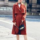 Tie-waist Single Breasted Coat
