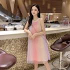 Sleeveless / Strappy Midi A-line Dress
