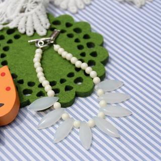 Glass Beads Bracelet(white)