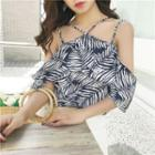 Printed Chiffon Strappy Top