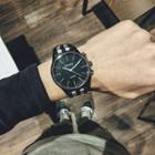 Couple Matching Striped Canvas Strap Watch
