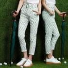 Dotted Slim-fit Cropped Pants