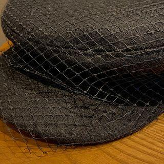 Mesh Overlay Hat Black - One Size