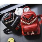 Studded Letter Applique Backpack