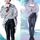 Zebra Print Long Sweater