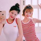 Strawberry Milk Ringer Mini Tank Dress
