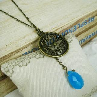 Copper Pocket Watch Necklace