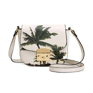 Printed Faux-leather Crossbody Bag