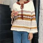 Patterned Collared Sweater