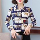 Horse Print Chiffon Shirt