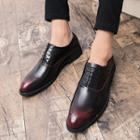 Perforated Faux Leather Oxfords