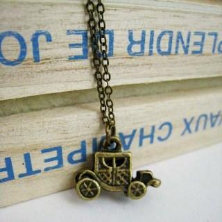 Copper Old Car Necklace Copper - One Size