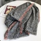 Houndstooth Neck Scarf Houndstooth - Black & White - One Size