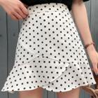 Dotted Chiffon Mini Skirt