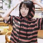Hooded Striped Tee