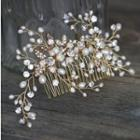 Wedding Freshwater Pearl Hair Comb White - One Size