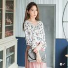 Floral Peasant Boxy Blouse