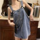 Denim Sleeveless Dress Blue - One Size