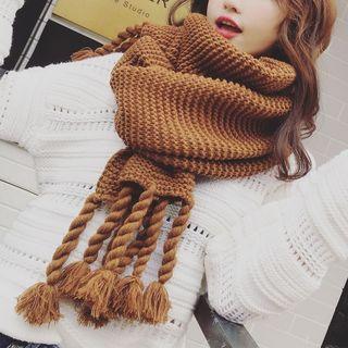 Chunky Knit Fringe Scarf