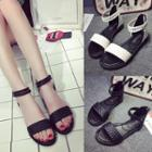 Ankle Strap Woven Sandals