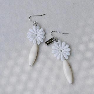 Lace Flower Bead Earrings