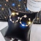 Alloy Star Open Hoop Earring E1003 - Gold - One Size