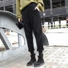 Faux Suede Cropped Pants