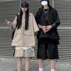 Set: Short-sleeve Hood Jacket + Shorts