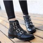 Buckled Studded Short Boots