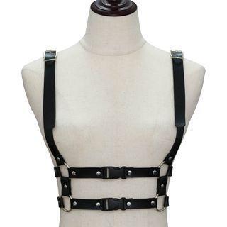 Faux Leather Body Harness Belt
